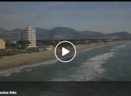 Il mare di Terracina nelle riprese aeree di Sergio Recchia