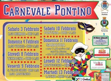 Sfilata di Carnevale a Terracina l'8 febbraio dalle 14,30. Ecco il calendario ufficiale del Carnevale pontino 2018